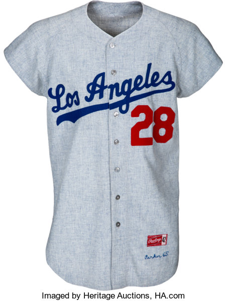 1965 Wes Parker World Series Game Worn Los Angeles  7c7a9a96d
