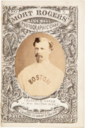 Baseball Cards:Singles (Pre-1930), 1871 Mort Rogers Photographic Score Card Charles Gould. ...