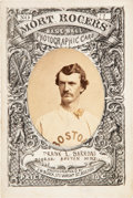 Baseball Cards:Singles (Pre-1930), 1871 Mort Rogers Photographic Score Card Frank Barrows - Unique Featured Appearance. ...