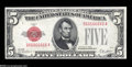 Small Size:Legal Tender Notes, Fr. 1525 $5 1928 Legal Tender Note. Choice Crisp Uncirculated....