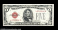 Small Size:Legal Tender Notes, Fr. 1529* $5 1928D Legal Tender Note. About Uncirculated....