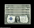 Small Size:Silver Certificates, Fr. 1601/Fr. 1602 $1 1928A/1928B Silver Certificates.... (6 notes)