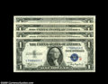 """Small Size:Silver Certificates, Fr. 1609 $1 1935A """"R"""" Silver Certificates.... (4 notes)"""