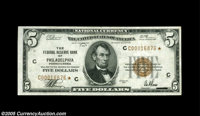Fr. 1850-C* $5 1929 Federal Reserve Bank Note. Extremely Fine. Thirteen stars are reported, with this specimen in the mi...
