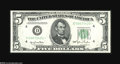 Small Size:Federal Reserve Notes, Fr. 1961-D* $5 1950 Wide II Federal Reserve Note. Gem Crisp Uncirculated....