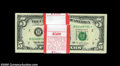 Fr. 1984-B* $5 1995 Federal Reserve Notes. Original Pack of 100. Gem Crisp Uncirculated. The last two notes in this pack...