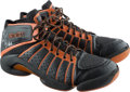 Basketball Collectibles:Others, 2000's Monta Ellis Game Worn & Signed Sneakers. ...