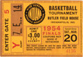 """Basketball Collectibles:Others, 1954 Indiana High School Basketball """"Hoosiers"""" Championship TicketStub. ..."""