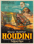 "Movie Posters:Miscellaneous, Houdini ""Buried Alive!"" (Otis Litho, 1926). Folded, Good+. Eight Sheet (81"" X 106"").. ..."