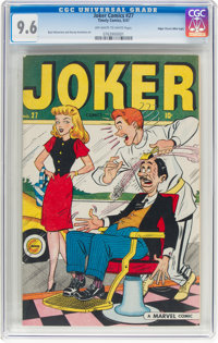 Joker Comics #27 Mile High Pedigree (Timely, 1947) CGC NM+ 9.6 Off-white to white pages