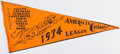 """Baseball Collectibles:Others, 1934 Detroit Tigers """"American League Champs"""" Vintage Pennant...."""