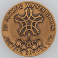 Olympic Collectibles:Autographs, 1988 Calgary Winter Olympics Commemorative Medal, with Original Box....
