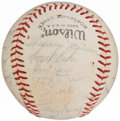 Autographs:Baseballs, 1971 New York Yankees Team Signed Baseball ( Signatures)....