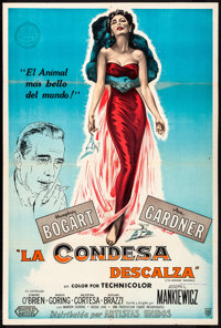 "The Barefoot Contessa (United Artists, 1954). Folded, Fine/Very Fine. Argentinean One Sheet (29"" X 43""). Drama..."