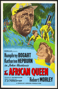 """Movie Posters:Adventure, The African Queen (Romulus, R-1950s) Folded, Very Fine-. British Silk Screen One Sheet (27"""" X 40""""). Adventure...."""