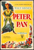 """Movie Posters:Animation, Peter Pan (RKO, 1953) Folded, Fine+. Argentinean One Sheet (29"""" X 43""""). Animation...."""