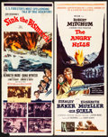 "Movie Posters:War, Sink the Bismarck! & Other Lot (20th Century Fox, 1960) Rolled,Fine/Very Fine. Inserts (8) (14"" X 36""). War.... (Tot..."