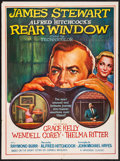 """Movie Posters:Hitchcock, Rear Window (Paramount, R-1970s) Folded, Very Fine-. Indian OneSheet (30"""" X 40""""). Hitchcock...."""