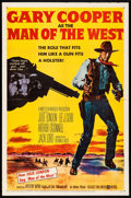 """Movie Posters:Western, Man of the West (United Artists, 1958). Folded, Fine/Very Fine. OneSheet (27"""" X 41""""). Western.. ..."""