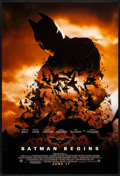 """Movie Posters:Action, Batman Begins (Warner Brothers, 2005) Rolled, Very Fine-. One Sheet (27"""" X 40"""") DS, Advance. Action...."""