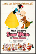 "Movie Posters:Animation, Snow White and the Seven Dwarfs (Buena Vista, R-1967) Folded, VeryFine-. One Sheet (27"" X 41"") Style A. Animation...."