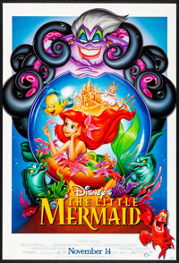 "The Little Mermaid (Buena Vista, R-1997) Rolled, Very Fine/Near Mint. One Sheet (26.75"" X 39.75"") DS, Advance..."