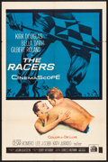"""Movie Posters:Drama, The Racers (20th Century Fox, 1955) Folded, Very Fine-. One Sheet (27"""" X 41""""). Drama...."""