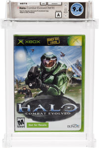 Halo: Combat Evolved (NFR) (XBOX, Microsoft, 2001) Wata 9.6 A (Seal Rating)