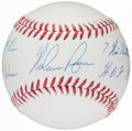 Autographs:Baseballs, Nolan Ryan Single Signed Stat Baseball, PSA/DNA Gem Mint 10....