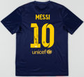 Olympic Collectibles:Autographs, Lionel Messi Signed FC Barcelona Jersey....