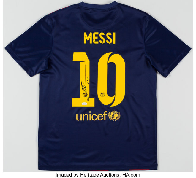 buy popular 114a7 4edc6 Lionel Messi Signed FC Barcelona Jersey.... Olympic ...