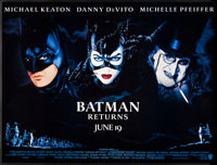 "Batman Returns (Warner Brothers, 1992) Rolled, Very Fine. Subway (59.5"" X 45"") Advance. John Alvin Artwork. Ac..."