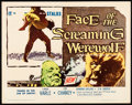 "Movie Posters:Horror, Face of the Screaming Werewolf (A.D.P., 1965) Folded, Very Fine-. Half Sheet (22"" X 28""). Horror...."