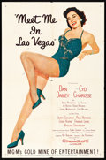 """Movie Posters:Musical, Meet Me in Las Vegas (MGM, 1956) Folded, Fine/Very Fine. One Sheet (27"""" X 41""""). Musical...."""