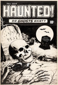 Original Comic Art:Covers, Haunted! Cover Original Art (c. 1950s)....
