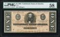Confederate Notes:1864 Issues, T71 $1 1864 PF-12 CR. 574 PMG Choice About Uncirculated 58.. ...