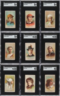 Non-Sport Cards:Lots, Scarce 1887 N284 Buchner Gold Coin Actors & Jockeys SGC-Graded Collection (13). ...