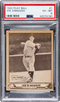 Baseball Cards:Singles (1940-1949), 1940 Play Ball Joe DiMaggio #1 PSA EX-MT 6....