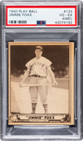 Baseball Cards:Singles (1940-1949), 1940 Play Ball Jimmie Foxx #133 PSA VG-EX 4 (MC)....