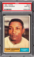 Baseball Cards:Singles (1960-1969), 1961 Topps Leon Wagner #547 PSA Gem Mint 10 - Pop Two!