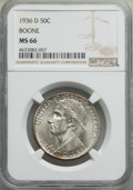 Commemorative Silver, 1936-D 50C Boone MS66 NGC. NGC Census: (214/14). PCGS Population: (305/40). CDN: $200 Whsle. Bid for problem-free NGC/PCGS ...