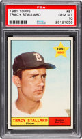 Baseball Cards:Singles (1960-1969), 1961 Topps Tracy Stallard #81 PSA Gem Mint 10 - Pop Three. ...