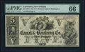 Obsoletes By State:Louisiana, New Orleans, LA- New Orleans Canal & Banking Co. $5 18__ Remainder PMG Gem Uncirculated 66 EPQ.. ...