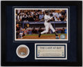 "Baseball Collectibles:Photos, Derek Jeter ""The Last A-Bat"" Game Used Dirt Display...."