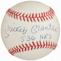 "Autographs:Baseballs, Mickey Mantle ""536 HR's"" Single Signed Baseball...."