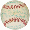 Autographs:Baseballs, 1977 Detroit Tigers Team Signed Baseball - Jack Morris RookieSeason (31 Signatures)....