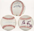 Autographs:Baseballs, Red Sox Signed Baseball Lot of 3 and Hat....