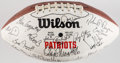Autographs:Jerseys, 1989 New England Patriots Team Signed Football & GronkowskiSigned Jersey....