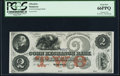Obsoletes By State:Wisconsin, Waupun, WI- Corn Exchange Bank $2 18__ Remainder PCGS Gem New 66PPQ.. ...