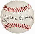 Autographs:Baseballs, Mickey Mantle 1974 Hall of Fame Single Signed Baseball....